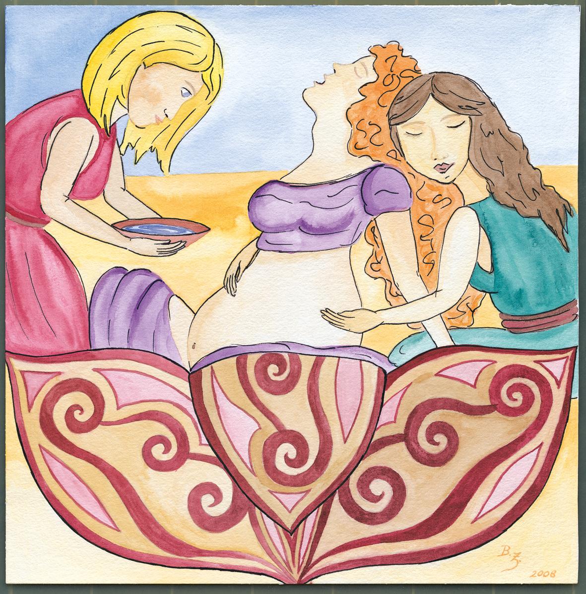 Doulas und Hebammen bei Geburt